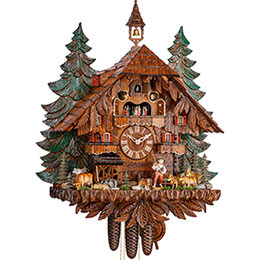Cuckoo Clock 8-day-movement Chalet-Style 76cm by Hekas