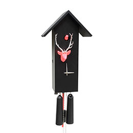 Cuckoo Clock 8-day-movement Modern-Art-Style 44cm by Rombach & Haas