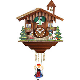 Cuckoo Clock Kuckulino Quartz-movement Black Forest Pendulum Clock-Style 18cm by Trenkle Uhren