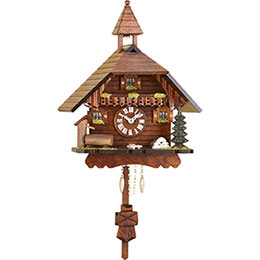 Cuckoo Clock Kuckulino Quartz-movement Black Forest Pendulum Clock-Style 22cm by Trenkle Uhren