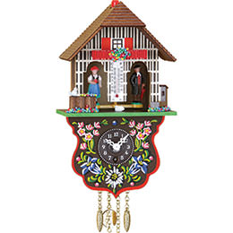 Cuckoo Clock Quartz-movement Black Forest Pendulum Clock-Style 21cm by Trenkle Uhren