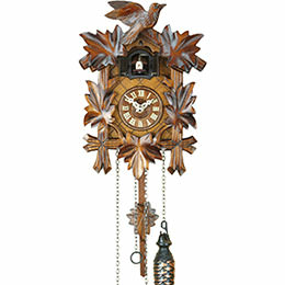 Cuckoo Clock Quartz-movement Carved-Style 22cm by Trenkle Uhren