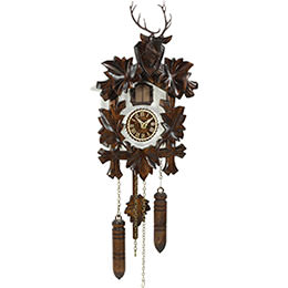 Cuckoo Clock Quartz-movement Carved-Style 24cm by Trenkle Uhren