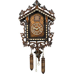 Cuckoo Clock Quartz-movement Carved-Style 33cm by Trenkle Uhren