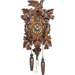 Cuckoo Clock Quartz-movement Carved-Style 36cm by Trenkle Uhren