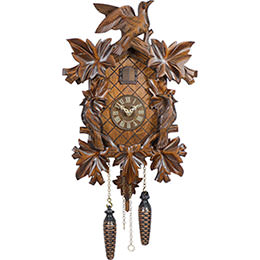 Cuckoo Clock Quartz-movement Carved-Style 38cm by Trenkle Uhren