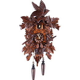 Cuckoo Clock Quartz-movement Carved-Style 46cm by Trenkle Uhren
