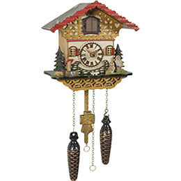 Cuckoo Clock Quartz-movement Chalet-Style 20cm by Trenkle Uhren