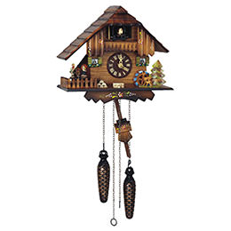Cuckoo Clock Quartz-movement Chalet-Style 22cm by Anton Schneider