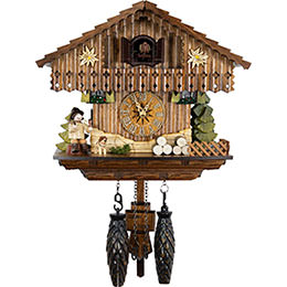 Cuckoo Clock Quartz-movement Chalet-Style 22cm by Cuckoo-Palace