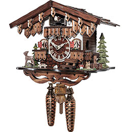 Cuckoo Clock Quartz-movement Chalet-Style 22cm by Engstler