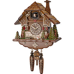 Cuckoo Clock Quartz-movement Chalet-Style 23cm by Engstler