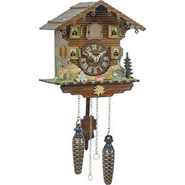 Cuckoo Clock Quartz-movement Chalet-Style 23cm by Trenkle Uhren
