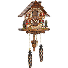 Cuckoo Clock Quartz-movement Chalet-Style 24cm by Trenkle Uhren