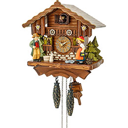 Cuckoo Clock Quartz-movement Chalet-Style 25cm by Hekas