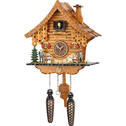 Cuckoo Clock Quartz-movement Chalet-Style 26cm by Trenkle Uhren