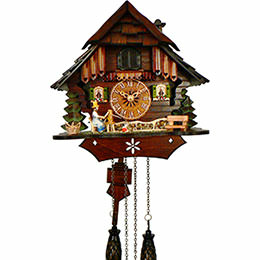 Cuckoo Clock Quartz-movement Chalet-Style 27cm by Anton Schneider
