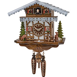Cuckoo Clock Quartz-movement Chalet-Style 27cm by Engstler