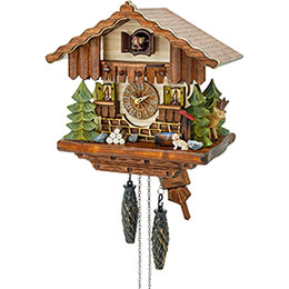Cuckoo Clock Quartz-movement Chalet-Style 27cm by Hekas