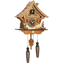 Cuckoo Clock Quartz-movement Chalet-Style 27cm by Trenkle Uhren