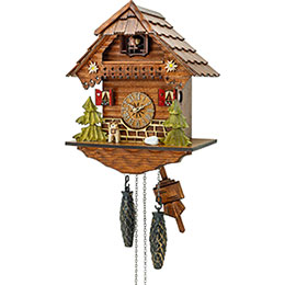 Cuckoo Clock Quartz-movement Chalet-Style 28cm by Hekas