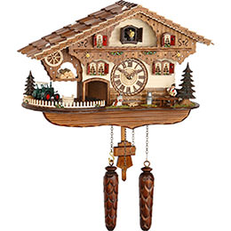 Cuckoo Clock Quartz-movement Chalet-Style 28cm by Trenkle Uhren