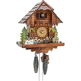Cuckoo Clock Quartz-movement Chalet-Style 29cm by Hekas