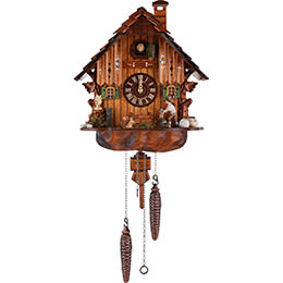 Cuckoo Clock Quartz-movement Chalet-Style 30cm by Anton Schneider
