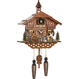 Cuckoo Clock Quartz-movement Chalet-Style 30cm by Trenkle Uhren