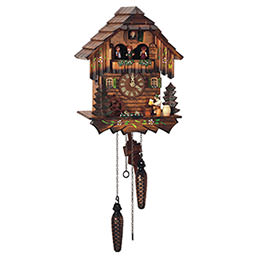 Cuckoo Clock Quartz-movement Chalet-Style 32cm by Anton Schneider