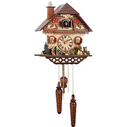 Cuckoo Clock Quartz-movement Chalet-Style 32cm by Trenkle Uhren