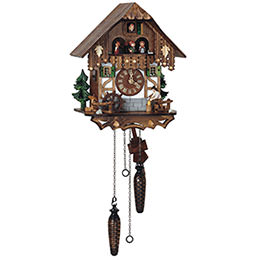Cuckoo Clock Quartz-movement Chalet-Style 33cm by Anton Schneider