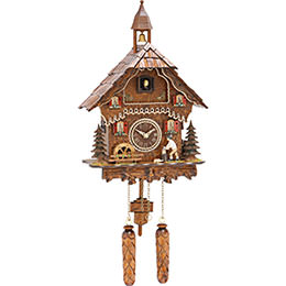 Cuckoo Clock Quartz-movement Chalet-Style 33cm by Trenkle Uhren