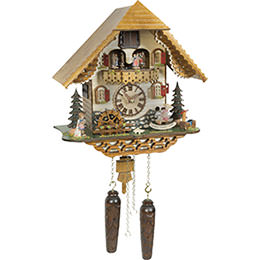 Cuckoo Clock Quartz-movement Chalet-Style 34cm by Trenkle Uhren