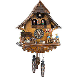 Cuckoo Clock Quartz-movement Chalet-Style 35cm by Engstler