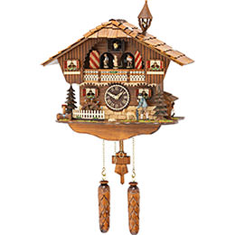 Cuckoo Clock Quartz-movement Chalet-Style 35cm by Trenkle Uhren