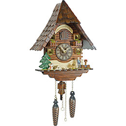 Cuckoo Clock Quartz-movement Chalet-Style 36cm by Trenkle Uhren