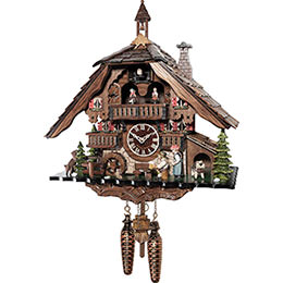 Cuckoo Clock Quartz-movement Chalet-Style 40cm by Engstler