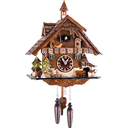 Cuckoo Clock Quartz-movement Chalet-Style 42cm by Engstler