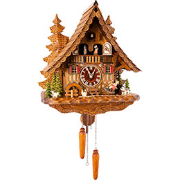 Cuckoo Clock Quartz-movement Chalet-Style 44cm by Engstler