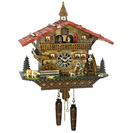 Cuckoo Clock Quartz-movement Chalet-Style 46cm by Trenkle Uhren