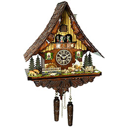 Cuckoo Clock Quartz-movement Chalet-Style 48cm by Trenkle Uhren