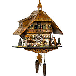 Cuckoo Clock Quartz-movement Chalet-Style 52cm by Trenkle Uhren
