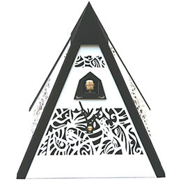 Cuckoo Clock Quartz-movement Modern-Art-Style 24cm by Rombach & Haas