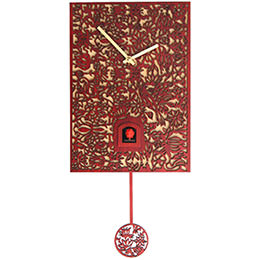 Cuckoo Clock Quartz-movement Modern-Art-Style 29cm by Rombach & Haas